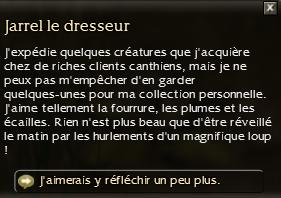 Jarrel le dresseur - Discussion